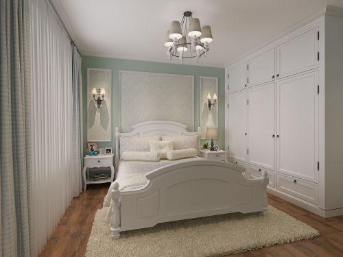 田园风格三居室卧室衣柜装修图片
