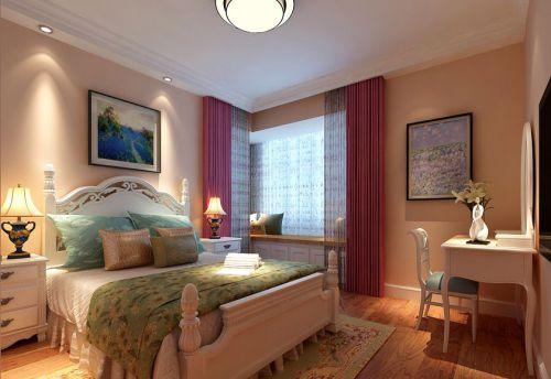 田园风格四居室卧室床头柜装修图片