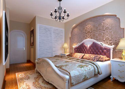 美式田园三居室卧室装修图片