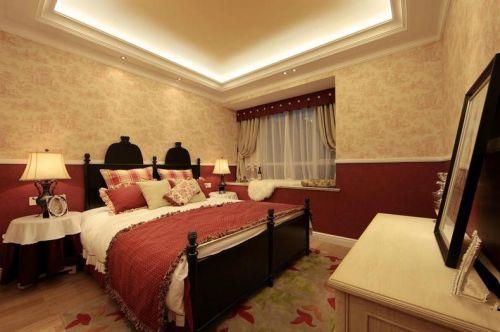 田园风格四居室卧室装修效果图大全