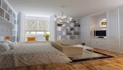 英式田园风格五居室卧室装修效果图