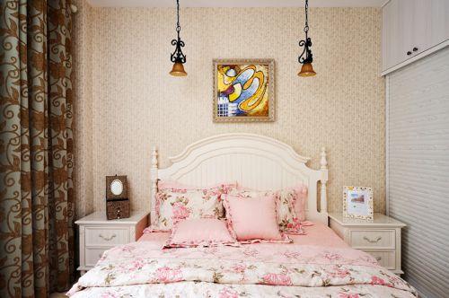 欧式田园三居室卧室装修效果图