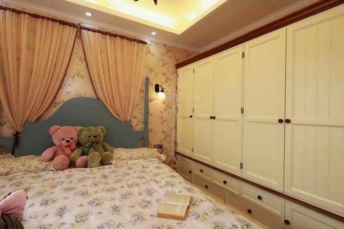 田园风格二居室卧室装修效果图欣赏
