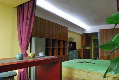 田园风格四居室卧室装修图片