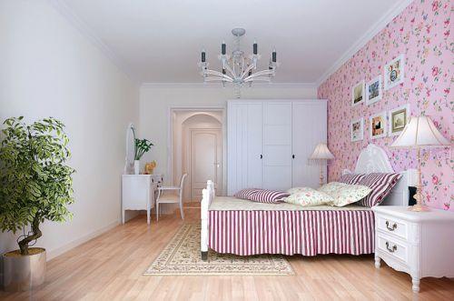 田园风格三居室卧室装修图片