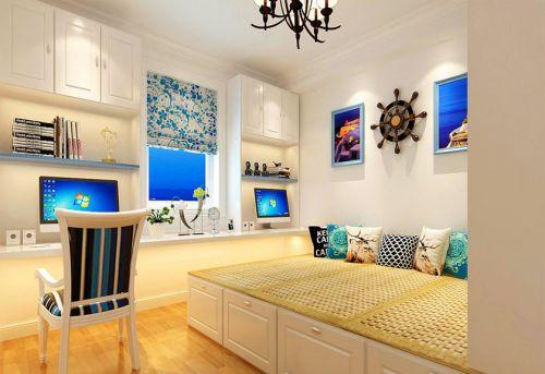 地中海风格二居室卧室床头柜装修效果图欣赏
