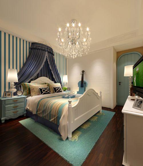 卧室双人床地中海风格家具图片