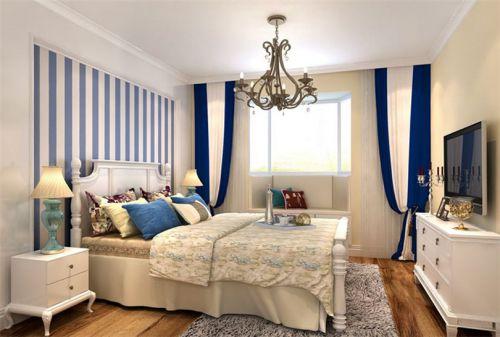 地中海风格二居室卧室吊顶装修效果图大全