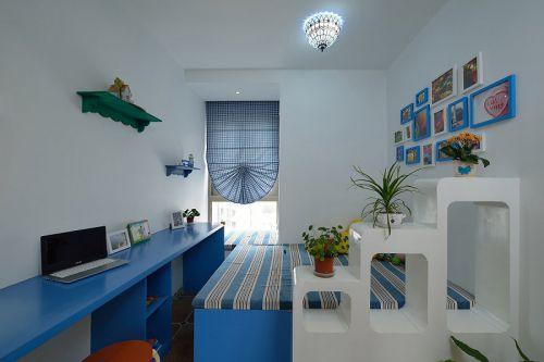 蓝调地中海式装修风格卧室