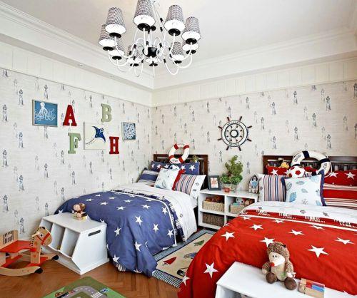 二胎房儿童房卧室地中海风格装修效果图片
