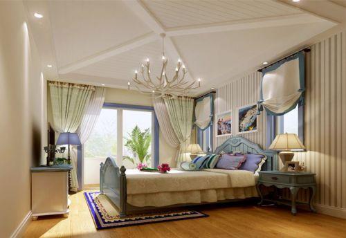 地中海风格别墅卧室壁纸装修效果图欣赏