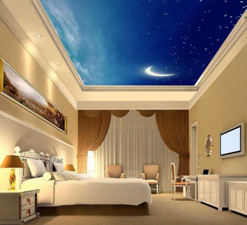 地中海风格卧室米色壁纸装修效果图