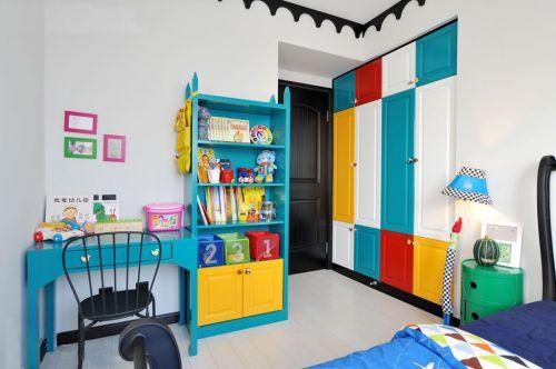 三居室地中海风格彩色小资卧室装修效果图