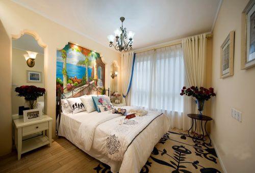 地中海风格米色温馨卧室装修效果图
