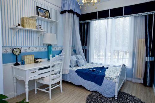 地中海风格清新卧室装修效果图