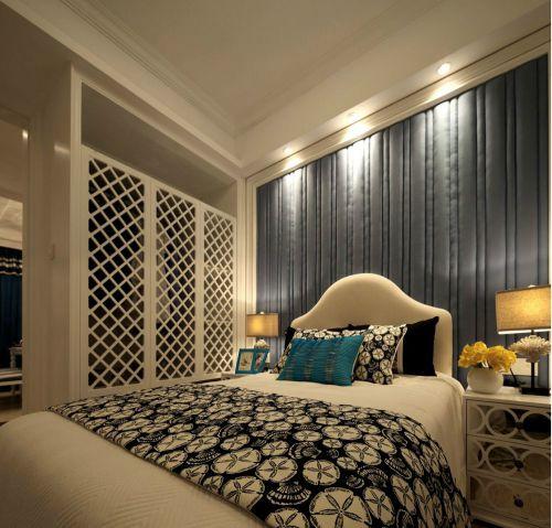 地中海风格三居室卧室电视柜装修效果图大全
