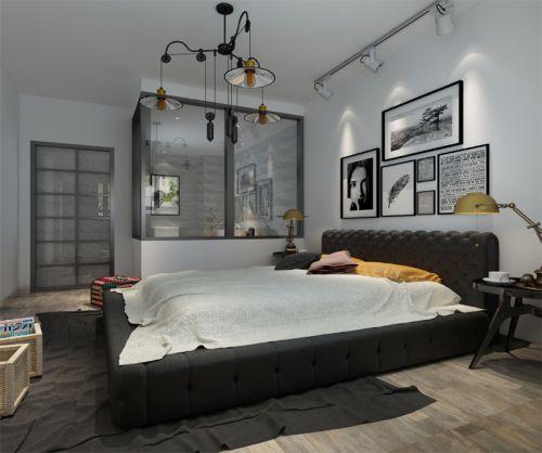 地中海风格三居室卧室楼梯装修效果图大全
