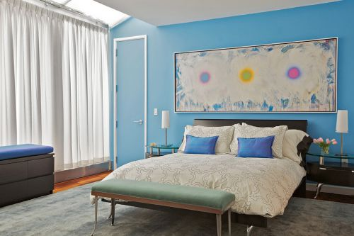 地中海风格宽敞温馨卧室装修效果图