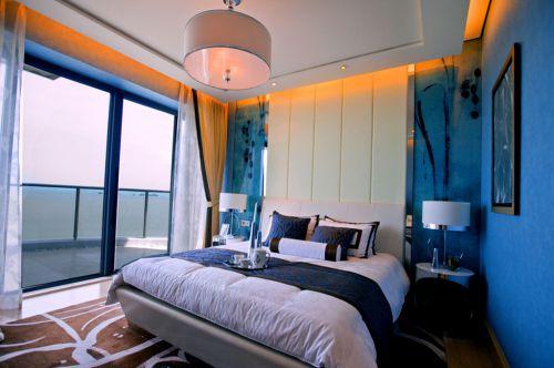 蓝色浪漫地中海卧室效果图
