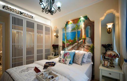 高贵地中海风格卧室效果图
