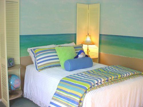 彩色怡人地中海风格卧室美图