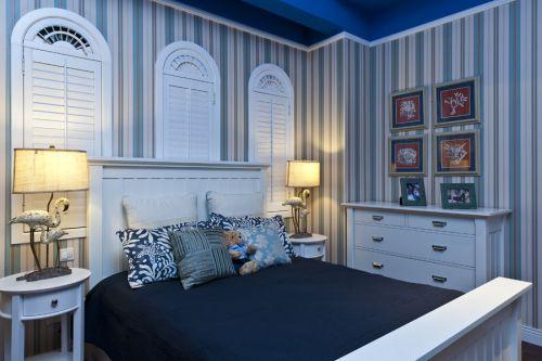 118平地中海风格三居卧室背景墙效果图