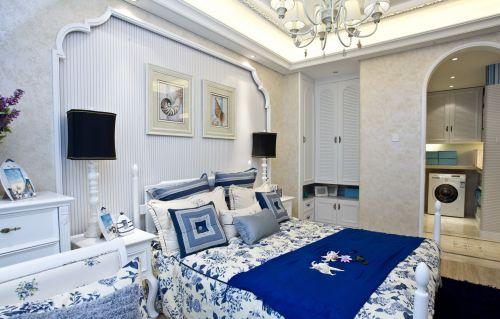 地中海风格格调卧室空间装修实景图