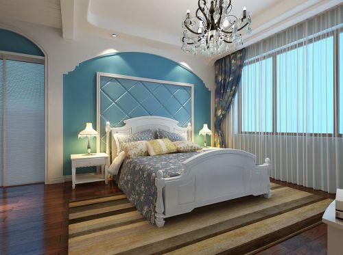 卧室白色实木双人床地中海风格家具图片