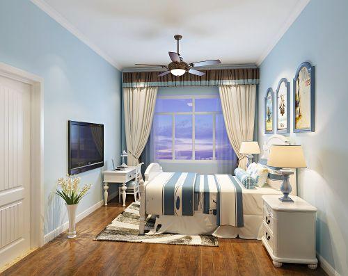地中海风格三居室卧室照片墙装修效果图大全