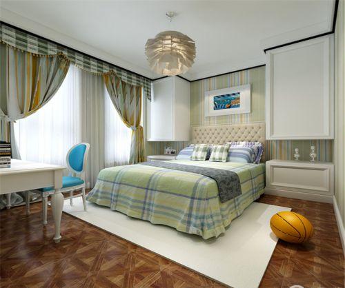 地中海风格二居室卧室飘窗装修效果图欣赏