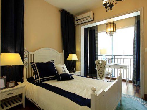 温暖安静地中海式装修风格卧室