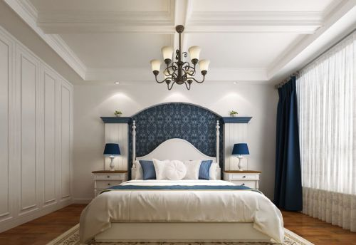 地中海风格四居室卧室衣柜装修图片