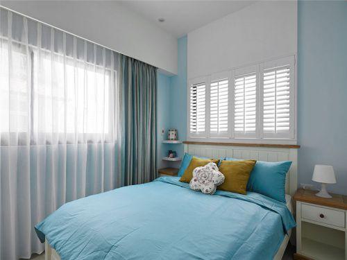 地中海风格三居室卧室床装修效果图大全