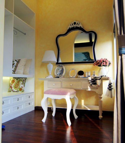 地中海风格五居室卧室背景墙装修效果图