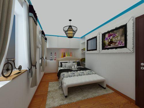 新中+地中海一居室卧室装修效果图大全