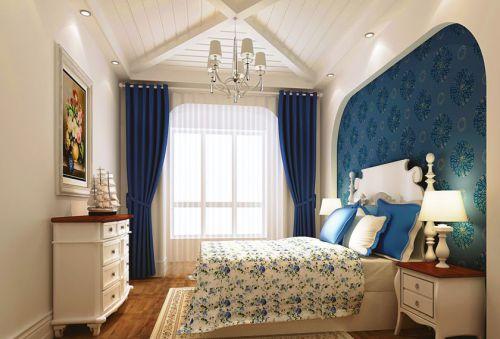 地中海风格四居室卧室床头柜装修图片