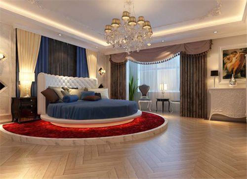 地中海风格三居室卧室榻榻米装修效果图