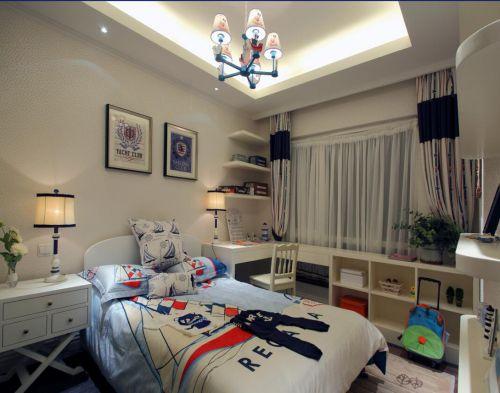 地中海风格三居室卧室吊顶装修图片