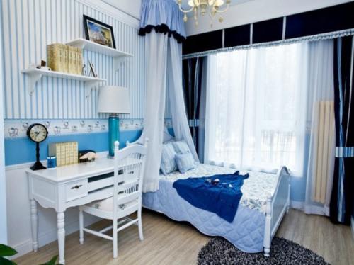 地中海风格二居室卧室婴儿床装修图片
