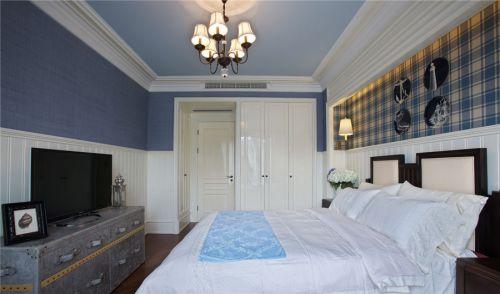 地中海风格四居室卧室照片墙装修图片