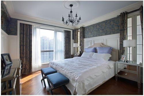 地中海风格四居室卧室婴儿床装修效果图欣赏