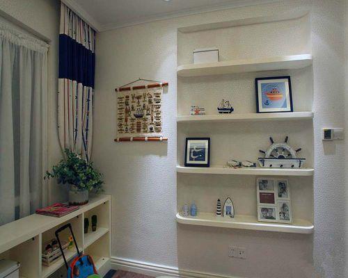 地中海风格四居室卧室组合柜装修效果图大全