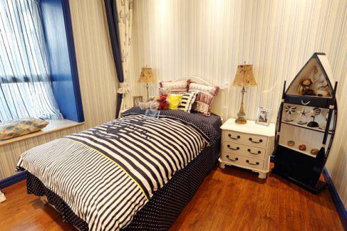 地中海风格二居室卧室壁纸装修效果图欣赏
