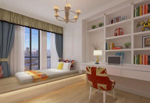地中海风格三居室卧室榻榻米装修图片