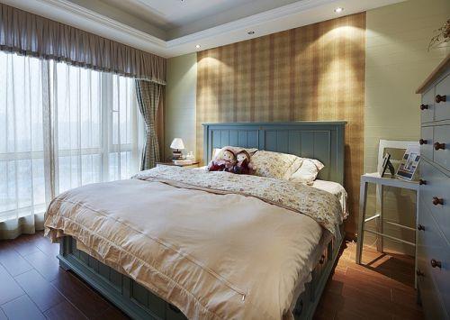 地中海田园风格三居室卧室装修图片欣赏