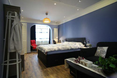 地中海风格一居室卧室衣柜装修效果图大全