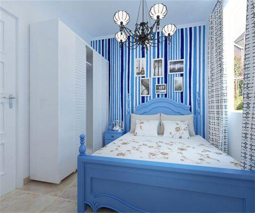 地中海风格二居室卧室衣柜装修图片