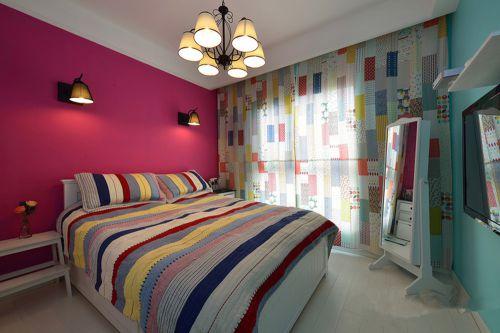 美式和地中海二居室卧室装修效果图欣赏