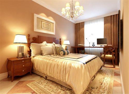 地中海风格三居室卧室吊顶装修效果图欣赏