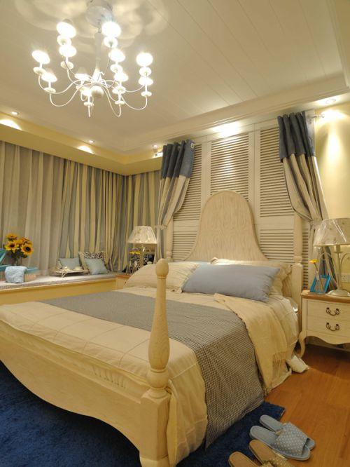 地中海风格三居室卧室飘窗装修效果图大全